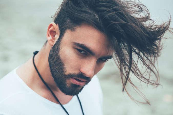 angular de la franja de corte de pelo
