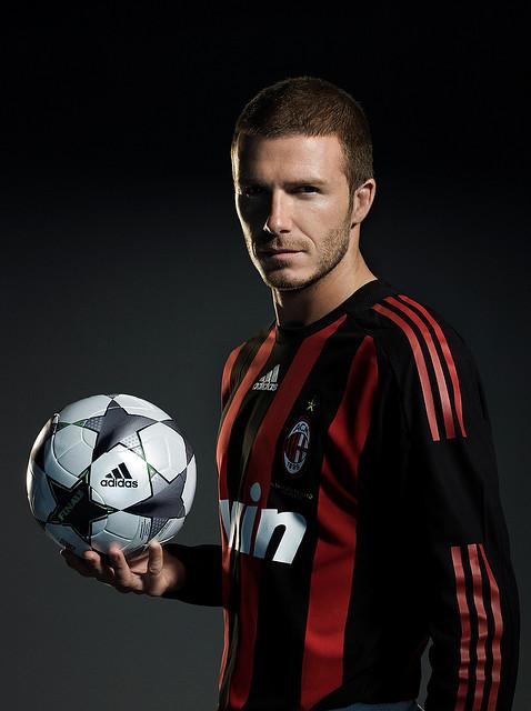 David Beckham con un peinado de corte de pelo para los hombres