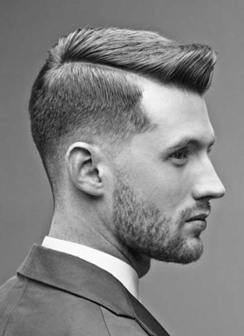 lado de la parte Pompadour Pelo corto para hombre Peinados