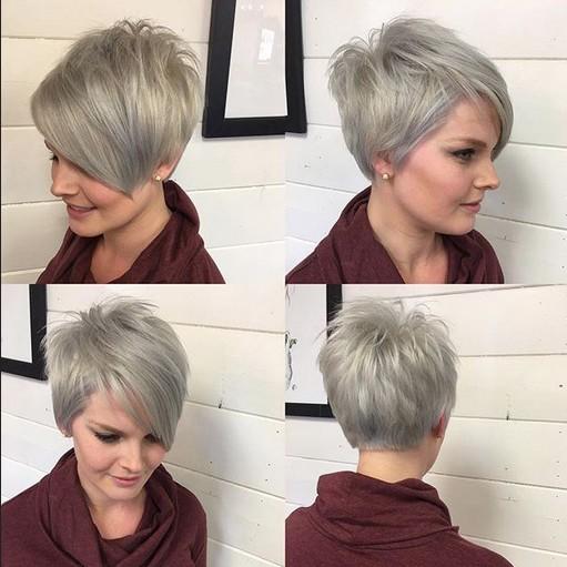 Una línea de corte de pelo Pixie - Ombre, Balayage peinados de corto cabello fino