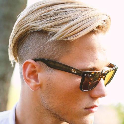 estilos de cabello rubio por Hombres