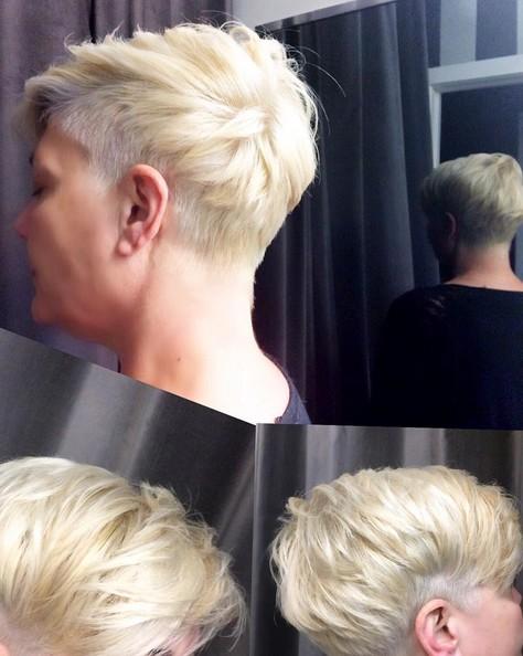 Rubio Corto Peinado - Pixie corte de pelo para mujeres cabello fino