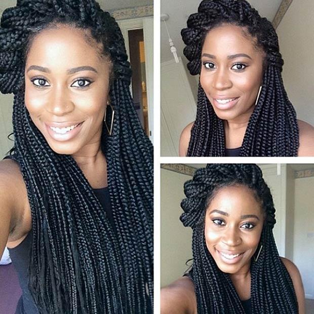 trenzas caja estilos para las mujeres negras