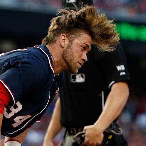 Bryce Harper de pelo del tirón