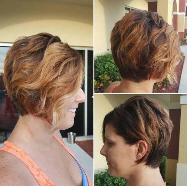 Curly Pixie - Fácil, Everyday cortes de pelo corto para las mujeres - Balayage Cabello corto