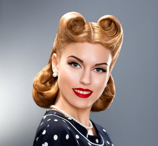 agradable Vintage Pin Up Peinados para las mujeres