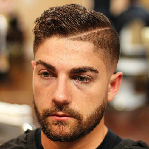 High-Fade-with-Hard-Part-and-Comb-Over