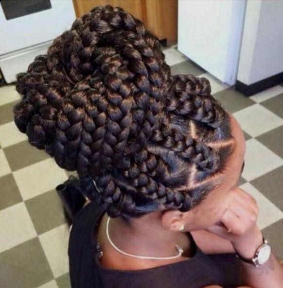 Jumbo Box - Trenzas afroamericanos peinados trenzadas con Updos