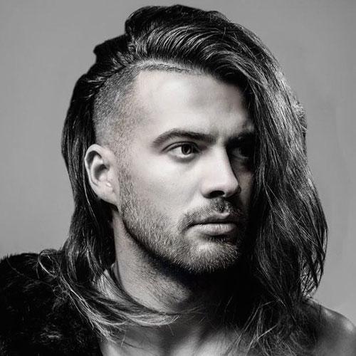 cabello largo Hombres