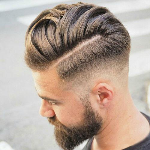 agradable peinados - Baja de fundido con la parte dura y el peine sobre