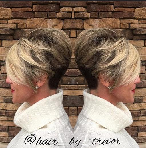 Ombre Pixie corte de pelo para el pelo corto Mujer - cortes de pelo corto para Cabello Fino