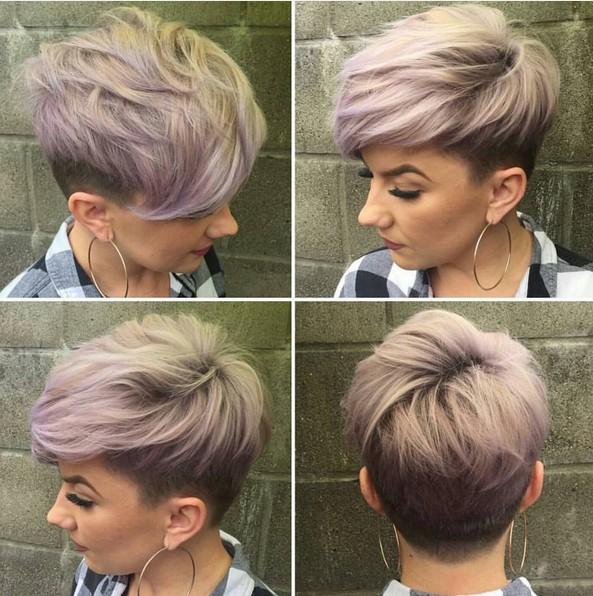 textura Cortes de pelo Pixie con cabello fino - entalladura para el pelo corto