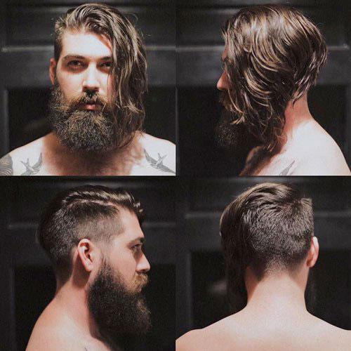 Garganta de pelo - angulosa del tallado con la barba