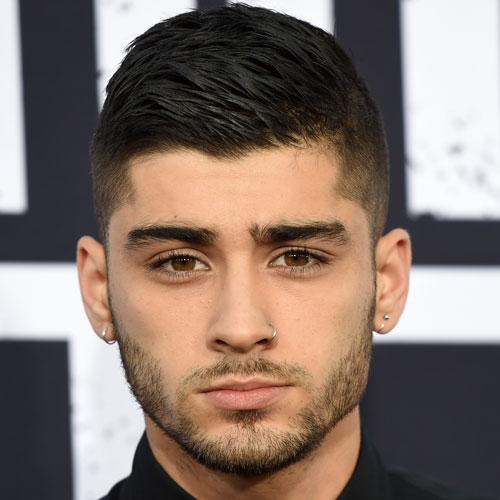 Zayn Malik corte de pelo corto - Alta fundido con el peine sobre