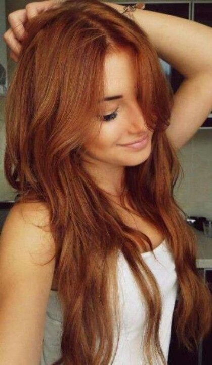 increíble pelo rojo natural