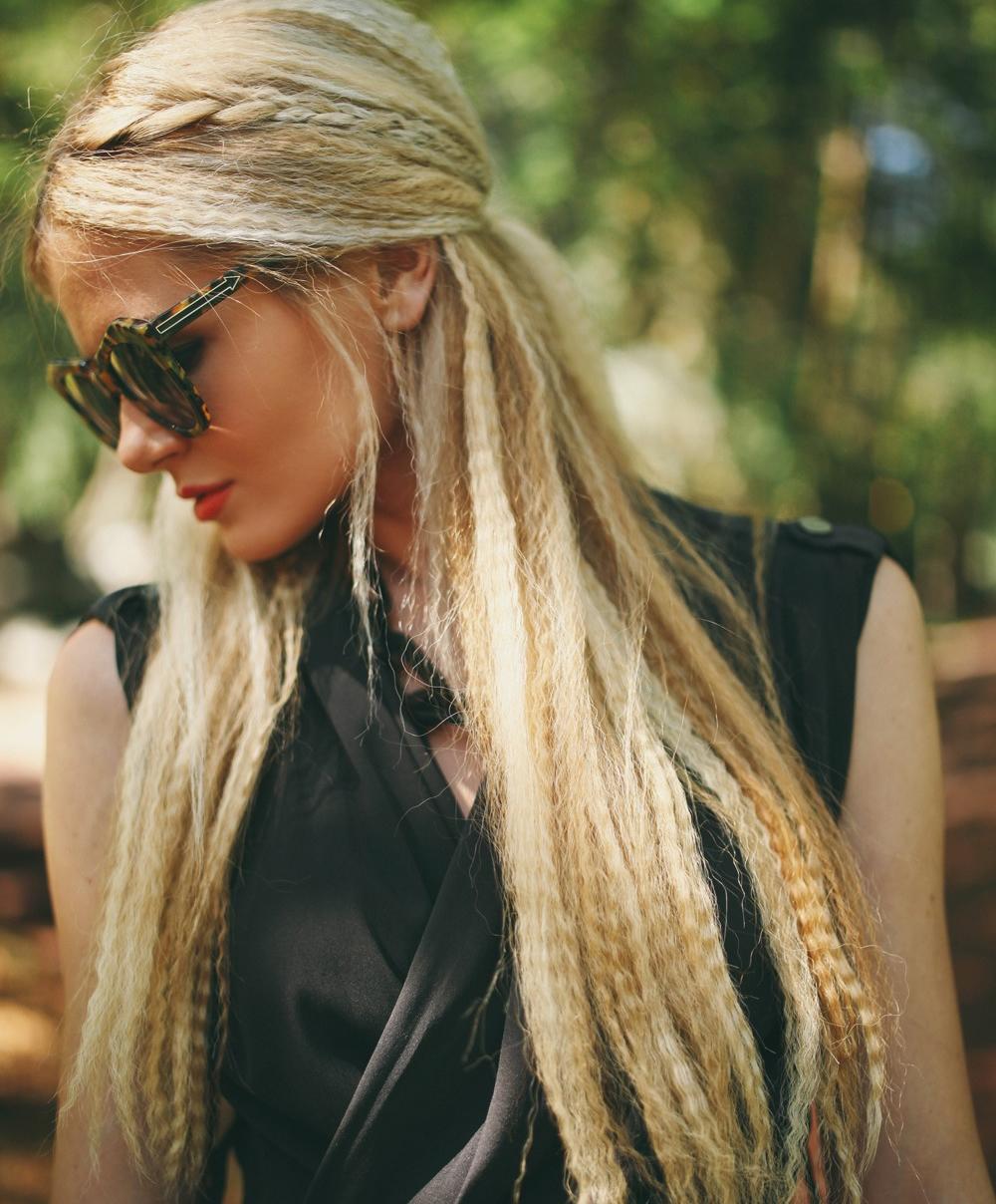cool largo ondulado cabello