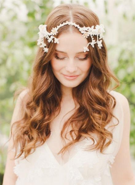 ondas suaves peinados de boda para el pelo largo