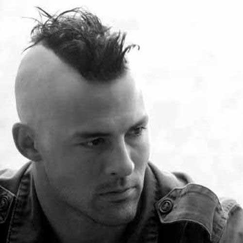 estilos mohawk corte de pelo para los hombres