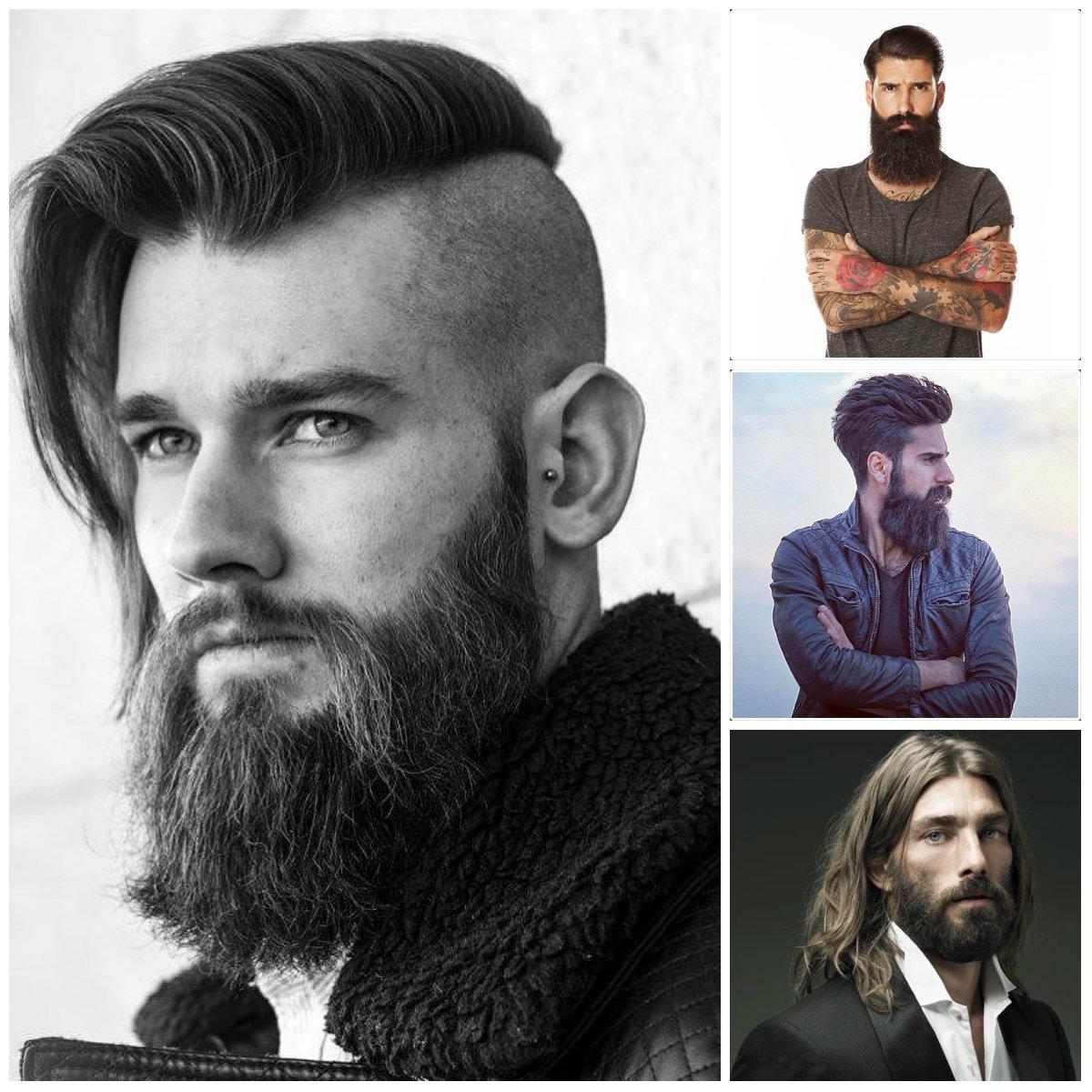 peinados modernos para hombre con la barba larga 2016