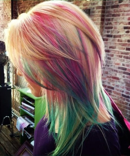 arco iris más destacado de Capas de pelo 2016