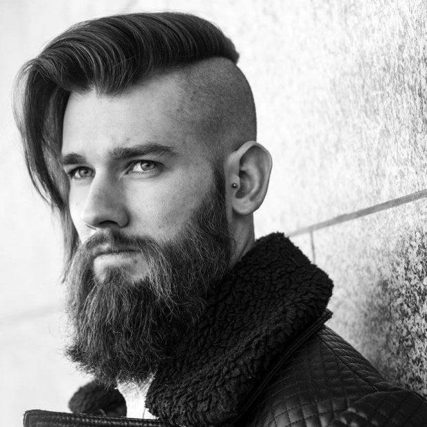 lado de la entalladura barrió el peinado para los hombres 2016