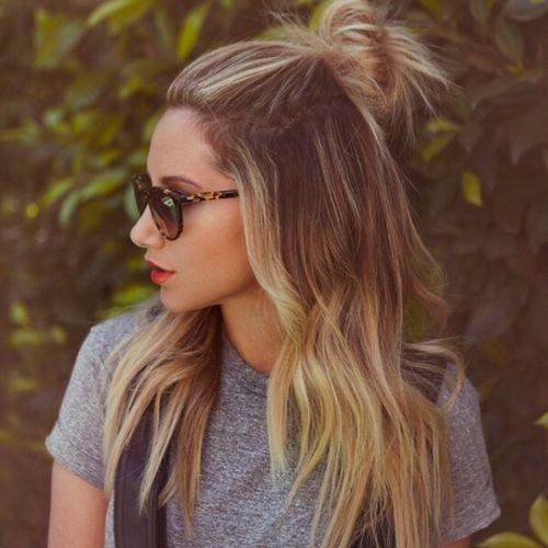 cool media hasta la mitad hacia abajo peinado para adolescentes 2016