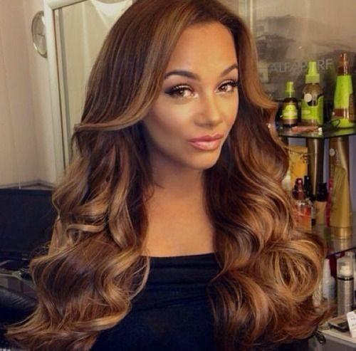 pelo castaño dorado para las mujeres negras 2016