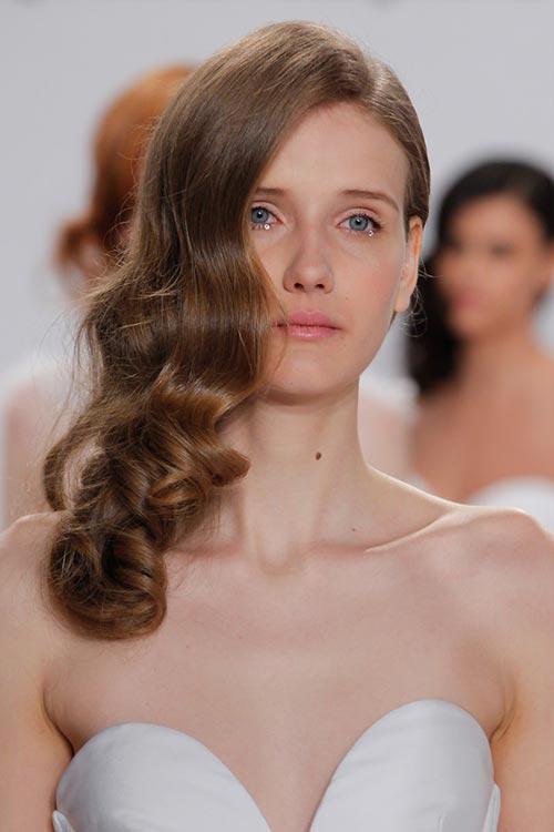 modelo Maky pelo de la novia primavera y el verano 2017