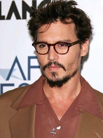 Johnny Depp Gafas para hombre Peinados