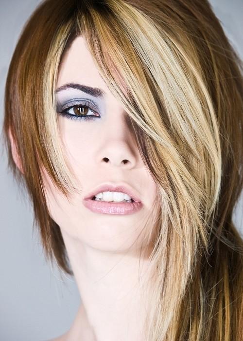 corte de pelo largo asymmetrica