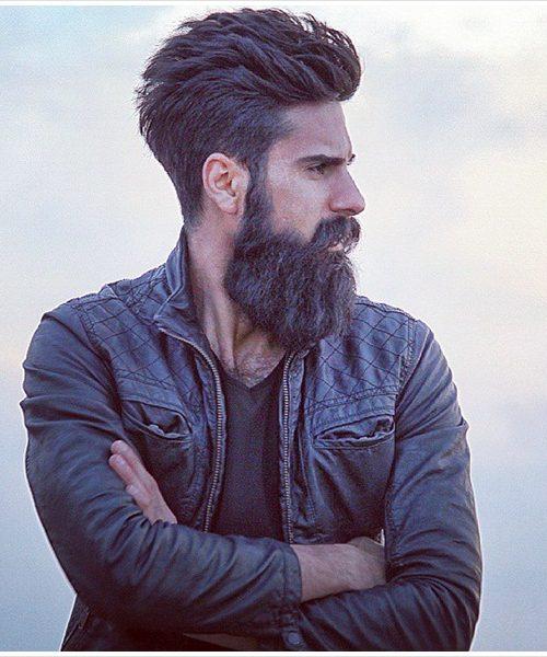 peinado de larga barba para los hombres