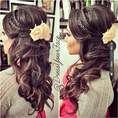 compromiso de la boda florales peinados formales