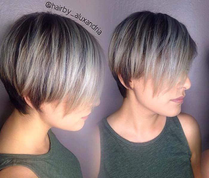 pelo corto corte recto para el pelo raro 2017