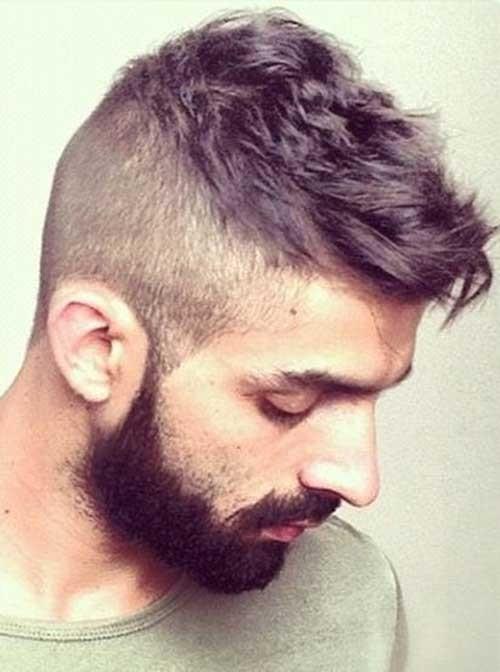 mens secundarios afeitado la barba con peinados 2016