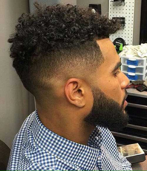 Fade Cortes de pelo para los hombres Negro-11