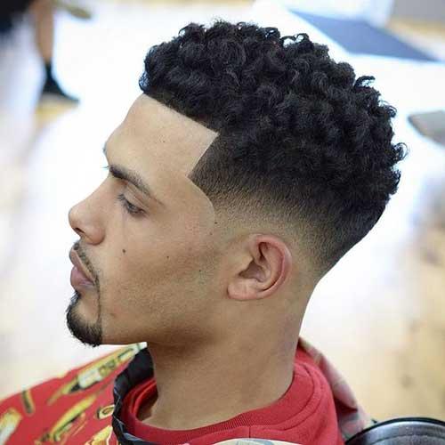 cortes de pelo negro de fundido para hombres