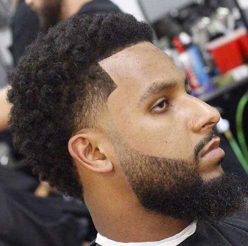 Fade Cortes de pelo para los hombres Negro-15