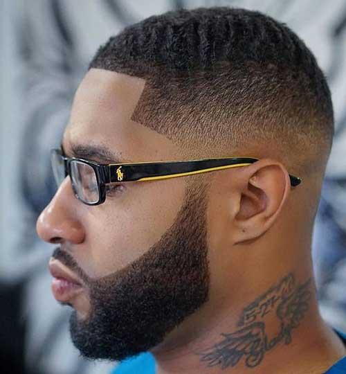 Fade Cortes de pelo para los hombres Negro-8