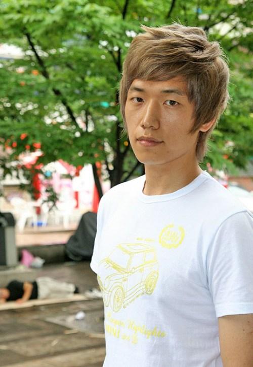 caliente coreana chicos Peinado