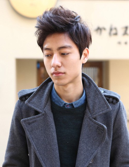 coreanos de negocios del corte de pelo de Hombres de Negocios