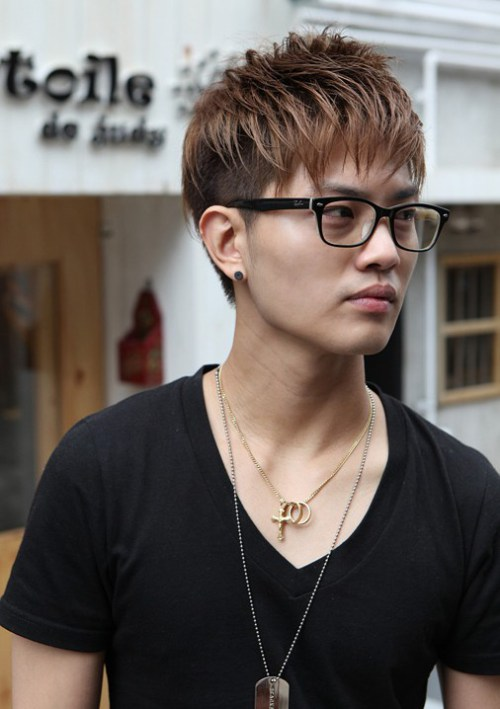 hombres coreanos peinados