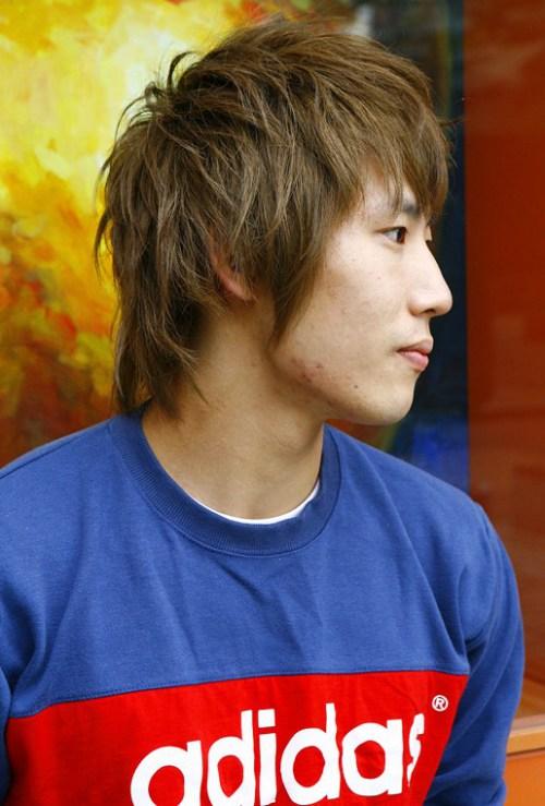 moda asiática corte de pelo para los hombres