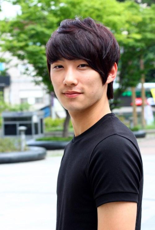 Peinado corto coreana para Hombres