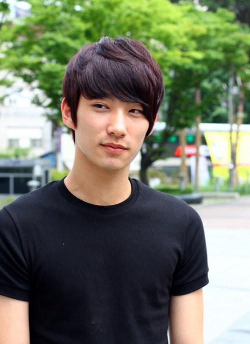 Estilo de pelo rubio de Corea para los individuos