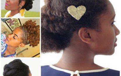 Updos suaves para el cabello natural