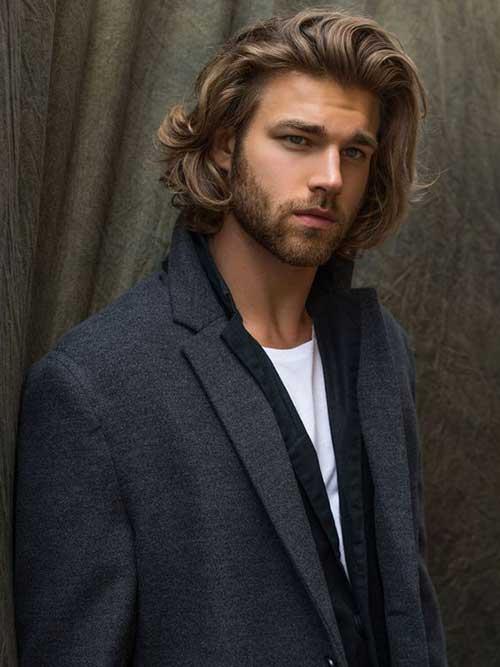 Hombres Cortes de pelo largo para delgada de pelo