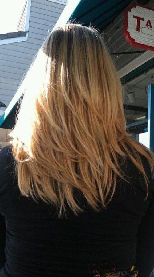 Capas barridas por el viento para el pelo largo