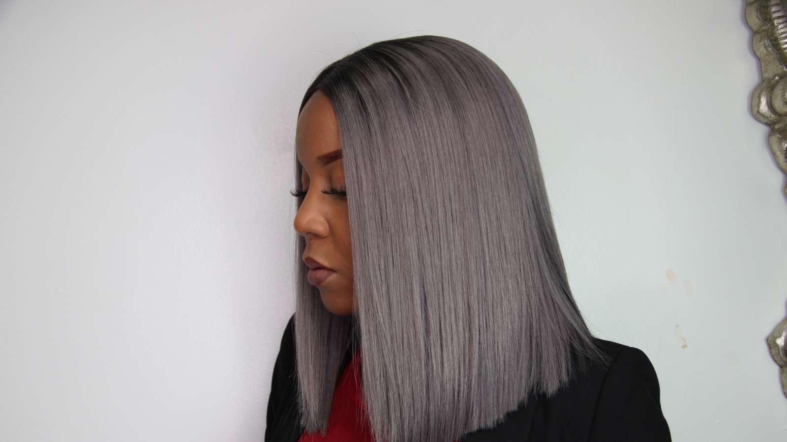 bob peinado gris para 2017