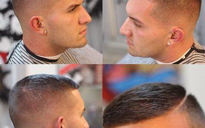 Alto y apretado Peinado para hombre