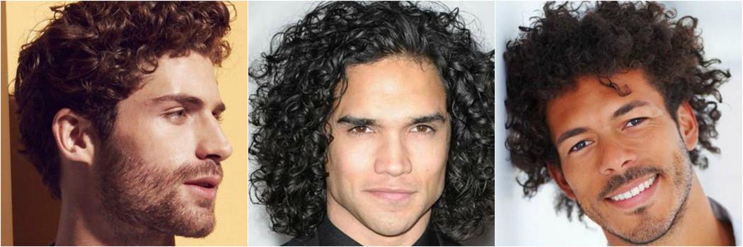 rizado ondulado del pelo de los hombres peinados Mejor Estilo Tipo 3